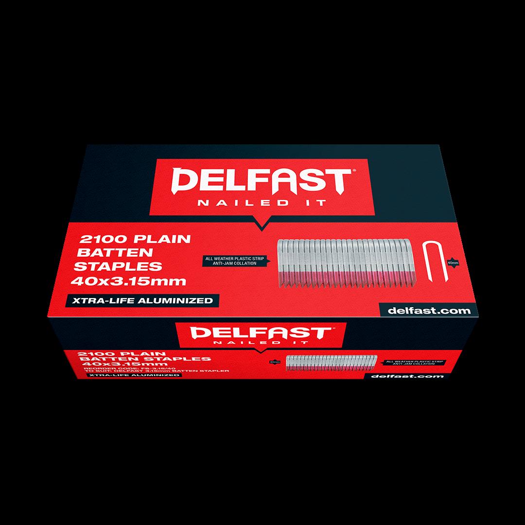 Delfast Batten Staple Galvanised 40mm x 3.15mm 2100 Packet