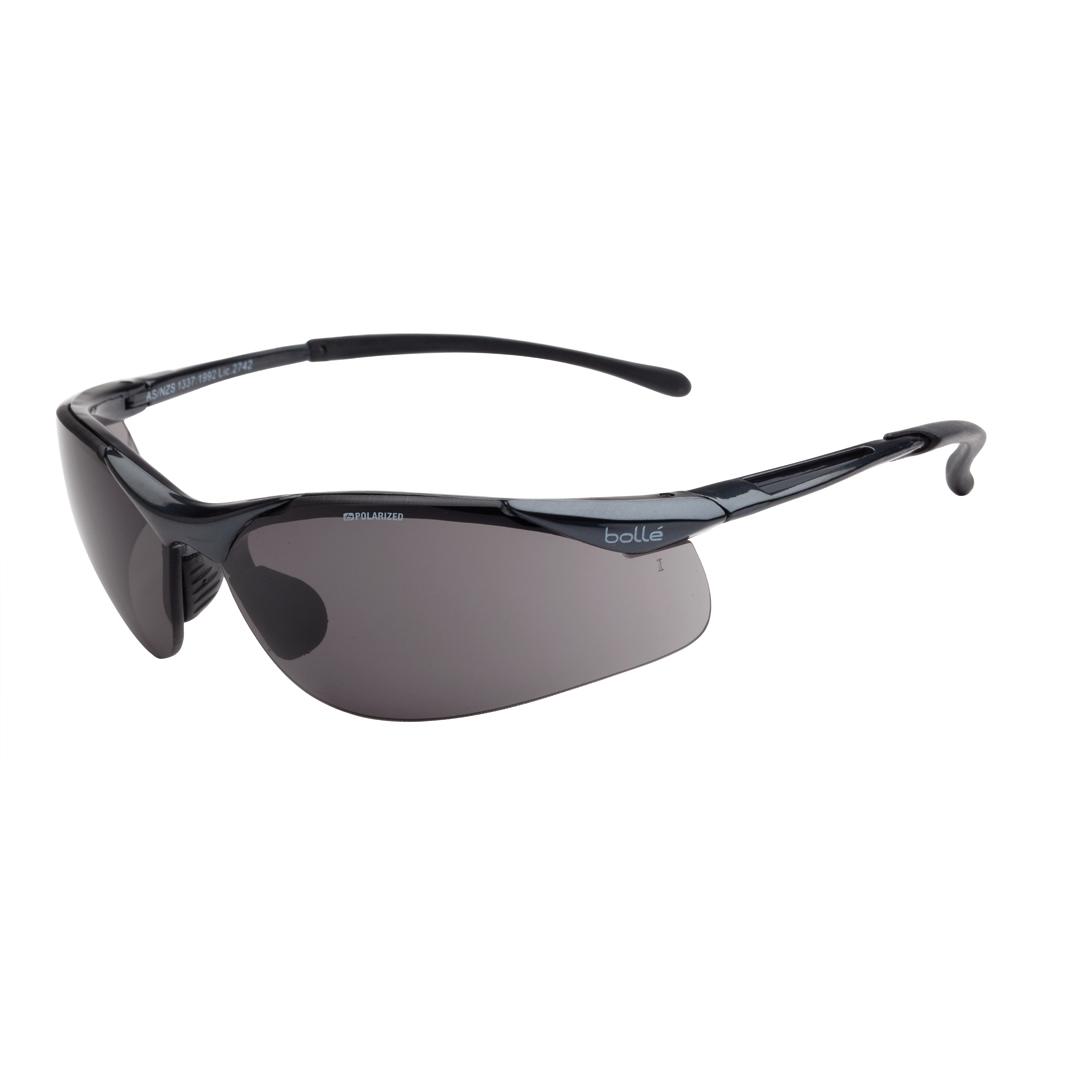Bolle Contour Sidewinder Safety Glasses Polarised Grey Lens
