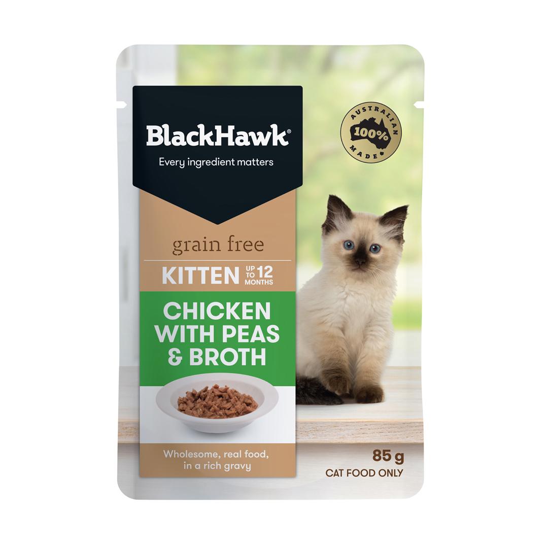Black Hawk Kitten Chick/Peas/Broth 85g