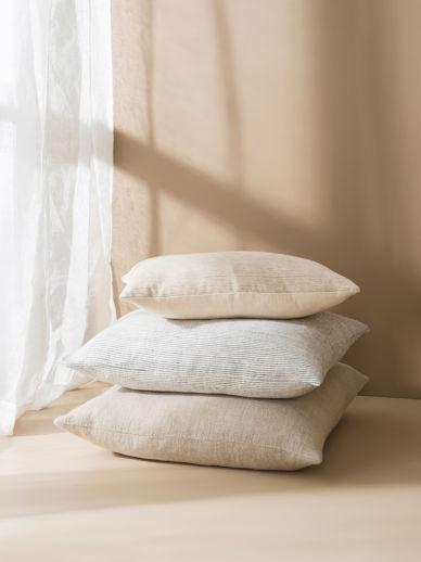 Pinstripe Linen Cushion Cover