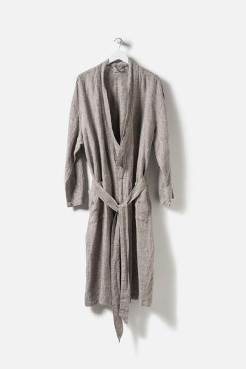 Beau Men's Linen Dressing Gown