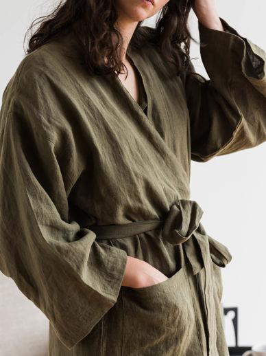 Ivy Linen Robe