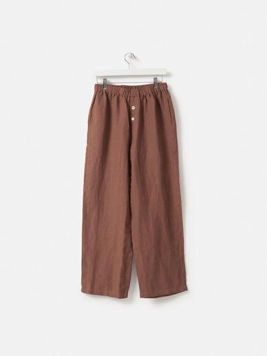 Plum Linen Pants