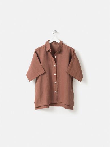 Plum Linen Shirt
