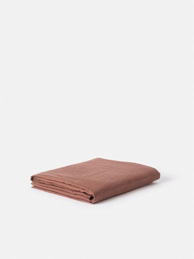 Plum Linen Bedspread
