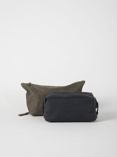 Cadet Waxed Canvas Wash Bag