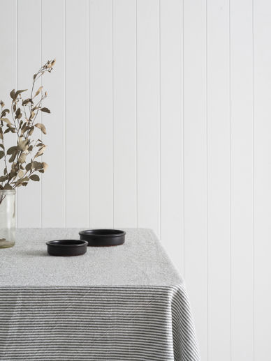 Stripe Washed Cotton Tablecloth