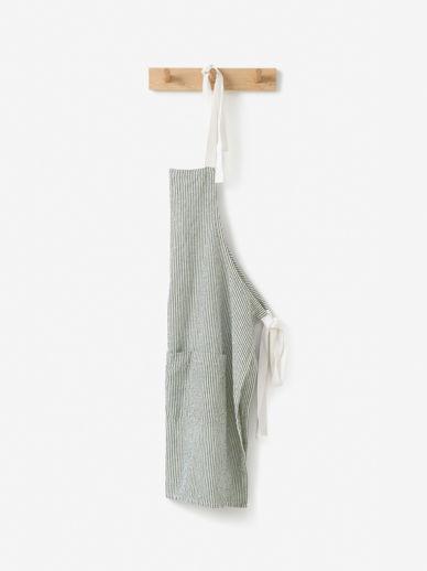 Stripe Washed Cotton Apron